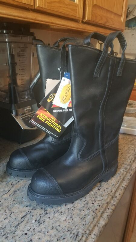 Thorogood Firerange Structural Fire Boots 804-6373 - Mens Sz 9 XW NEW OLD STOCK