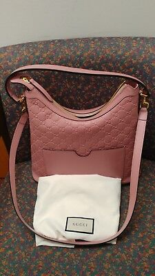 Pre-own Gucci Linea A Leather Shoulder Bag, Pink