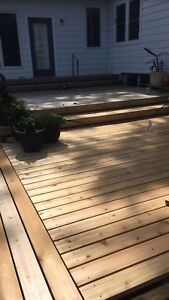Handyman for hire- deck, fences, shed, reno's