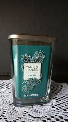 Large Yankee Candle~ Elevation Collection ~ Frosted Fir Candle 2 Wick Glass Jar