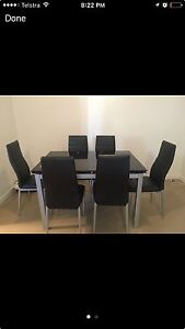 Glass dining table and 6 chairs Lane Cove North Lane Cove Area Preview
