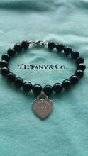 Tiffany & Co large bead onyx bracelet with heart tag RRP $590.00 Hillside Melton Area Preview