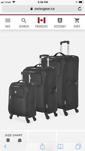 Swiss gear luggages for sale
