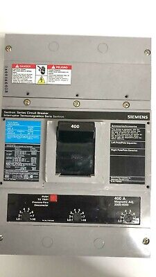 Jxd23b400 Siemens 400 Amp 240v 3 Pole Bolt On Circuit Breaker