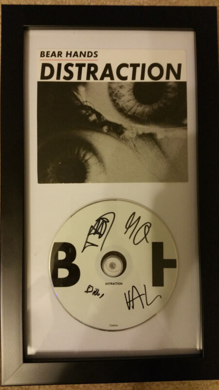 BEAR HANDS Distraction SIGNED AUTOGRAPHED FRAMED CD DISPLAY #A