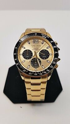 NEW SO & CO New York 5001.2 Mens Monticello Black and Gold Watch #18