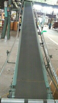 18 X 20 Ft Hytrol Incline Belt Conveyor Model Ta Comes With Legs - Works