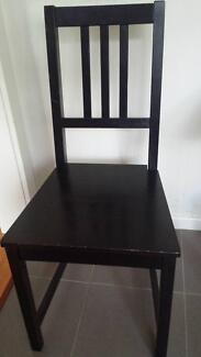 Black brown chair Macquarie Park Ryde Area Preview