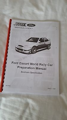RS FORD ESCORT WORLD RALLY CAR PREPARATION {BOREHAM SPECIFICATION}-POST IS FREE