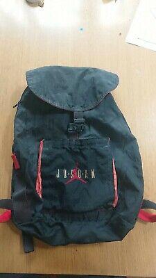 Nike Air Jordan Unisex Backpack Black/Red RARE 🎒