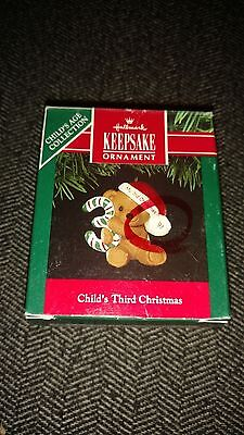 HALLMARK ORNAMENT - CHILD'S THIRD CHRISTMAS - 1989 - BRAND NEW - (H1)