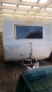 Old vintage chesney caravan Glenfield Campbelltown Area Preview