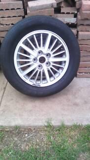 Alloy commodore wheel