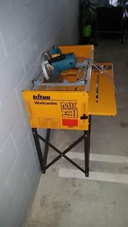 Triton Mk3 work bench and Makita 235mm power saw in good conditio