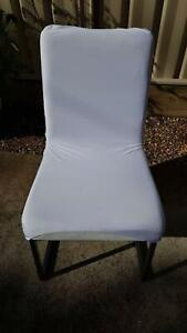 6 White Dining Chairs Holt Belconnen Area Preview