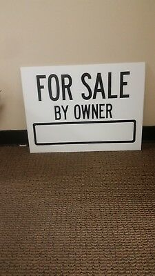 Wholesale 24 Large Yard Signs 18x24 FOR SALE 2 sided  Black   4mm Coroplast