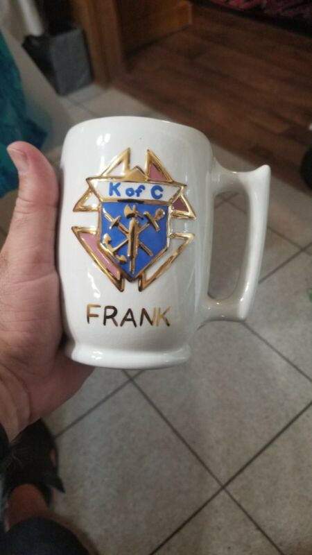 Rare 1968 2 sided named Knights Of Columbus 16oz Beer stein