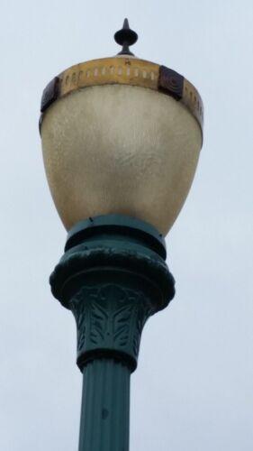 Vintage cast iron and steel streetlights