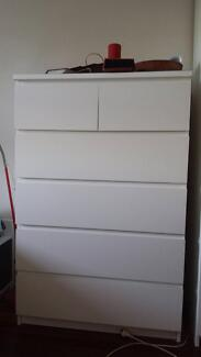 Ikea chest of drawers in white