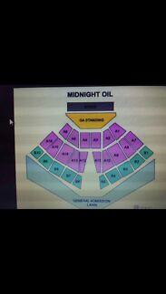Midnight oil tickets hope estate hunter valley 2x GA Standing