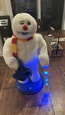 "Gemmy Frosty The Snowman Christmas Animated Dancing Spinning Snowflake 18"" ~ WOW"