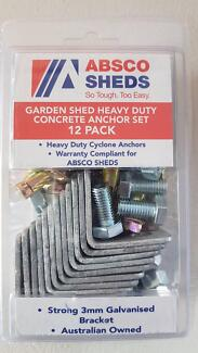 absco sheds garden shed heavy duty concrete anchor set 12 pack - Garden Sheds Joondalup