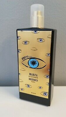 MEMO PARIS MARFA TESTER EAU DE PARFUM 2.5oz 75ml. NEVER USED & NEW.
