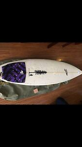 Surfboard with accessories