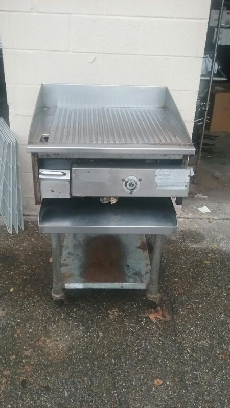 Miraclean Gas Griddle Char-less grill ridged