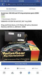 Rear end parts brand new in a box 411 ring and pinion