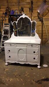 Antique dresser done over
