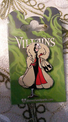 New Cruella Devil Fur Coat Villain Series Disney Paris DLRP DLP Sept. 2018 Pin
