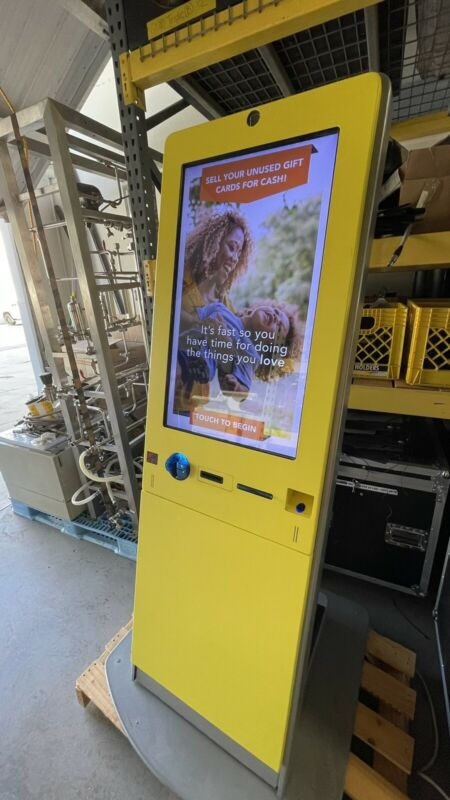CardPool Gift Card Exchange Kiosk - Touchscreen, Card Reader, Printer, Scanner!!