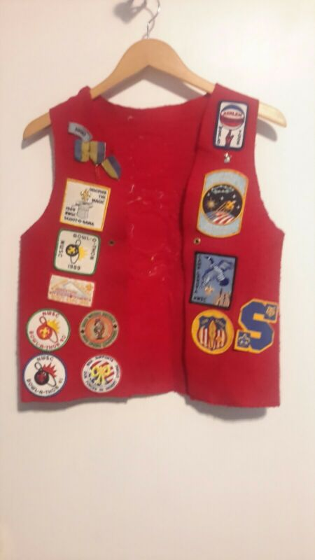 BSA SCOUT VEST LOADED WITH PATCHES
