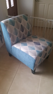 Blue/teal chair bedroom/ lounge