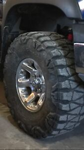 American racing rims with nitto mud grapplers