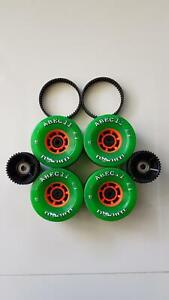 EVOLVE ABEC 11 97MM WHEELS WITH BELTS AND COGS