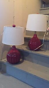 Burgundy / Red Lamps