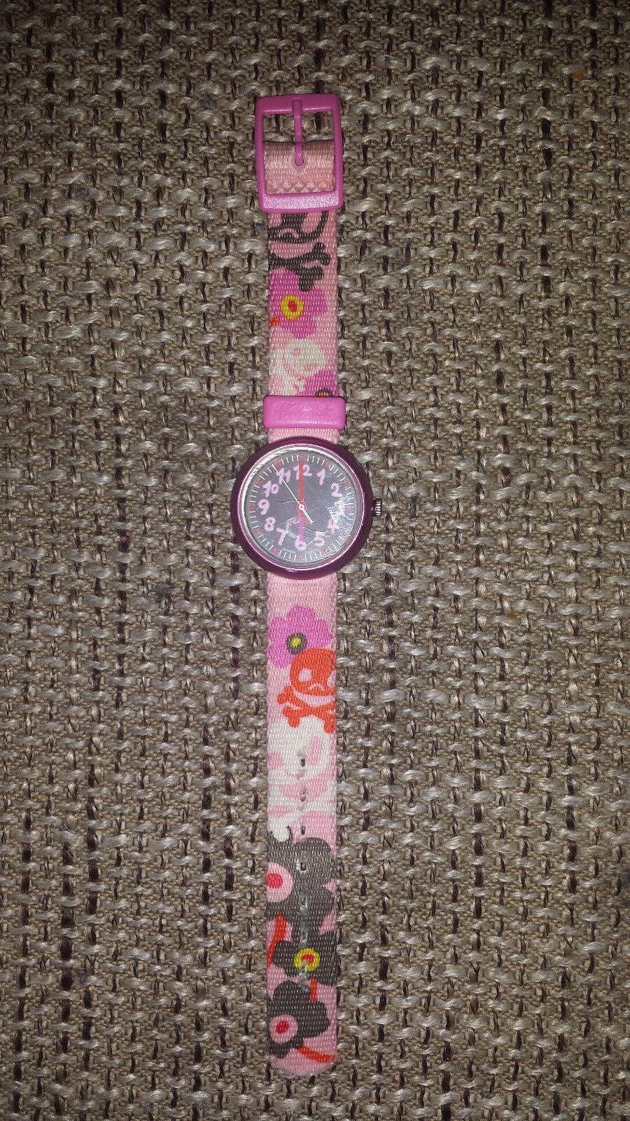 ☆ flik flak Uhr Armbanduhr Mädchen Skull Totenkopf für Schulanfang ☆