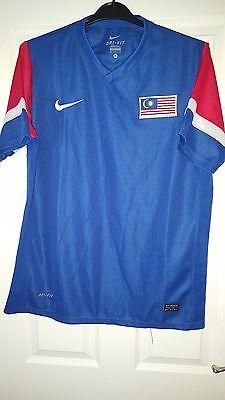 Mens Football Shirt - Malaysia National Team - Nike - Away 2010-2011 - Blue - XL image
