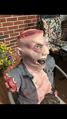 Eaten Alive Spirit Halloween Prop Rare Htf Gemmy Morbid Working