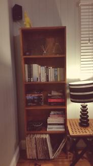 Slimline pine bookcase