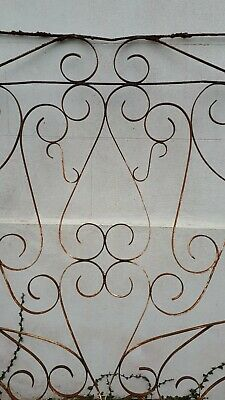 Rustic beautiful wrought iron panel of garden gate (2 panels available)