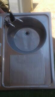 Stainless steel caravan sink in good condition