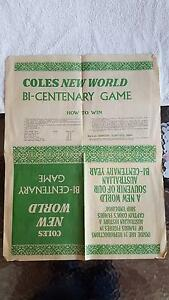 Coles New World Bi-Centenary Game Newspaper Page Wagga Wagga Wagga Wagga City Preview
