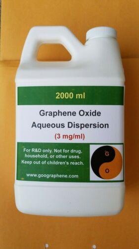 pH~2-3, ACADIC, 2000ML×~3 mg/ml, Single-Layer Graphene Oxide Aqueous Dispersion