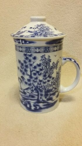 Blue & White Porcelain/Ceramic, Tea Infuser Cup/Mug
