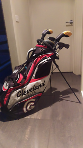 COUGAR BLACK CAT golf clubs+ CLEVELAND golf bag with stand Caroline Springs Melton Area Preview