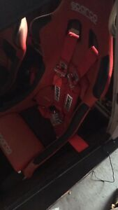 Sparco fighters, sparco wheel, crow racing harness's