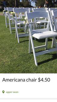 Americana chair hire $4.50 each
